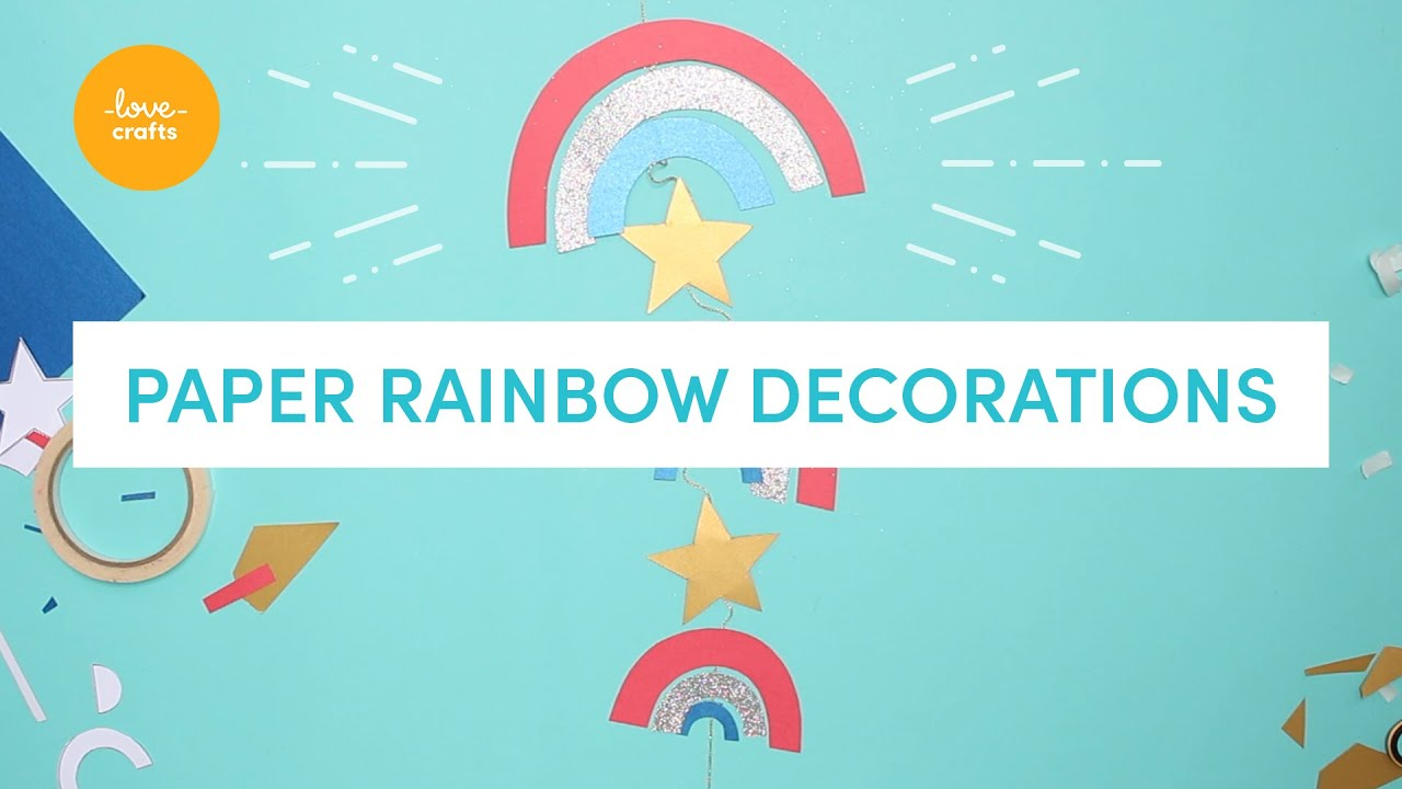 4th July | Easy DIY rainbow window hanging! #withme