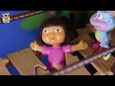 Dora the Explorer Toys 🎒 Boots saves Dora on a bridge