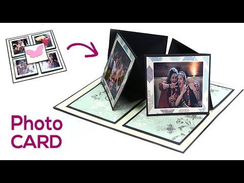 Birthday Card, Love Card, Photo Card, DIY Gift Making Idea - Easel Twisting Card