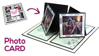 Birthday Card, Love Card, Photo Card, DIY Gift Making Idea - Easel Twisting Card