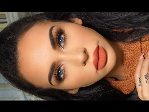 GRWM: MATTE ORANGE Fall Makeup | Carli Bybel