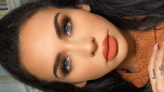 GRWM: MATTE ORANGE Fall Makeup | Carli Bybel