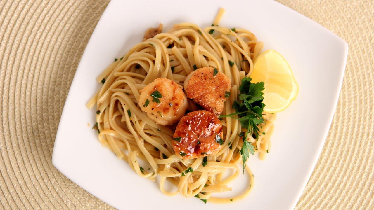 Scallop Scampi Over Linguine Recipe Laura Vitale Laura In The Kitchen Episode 534 Youtube