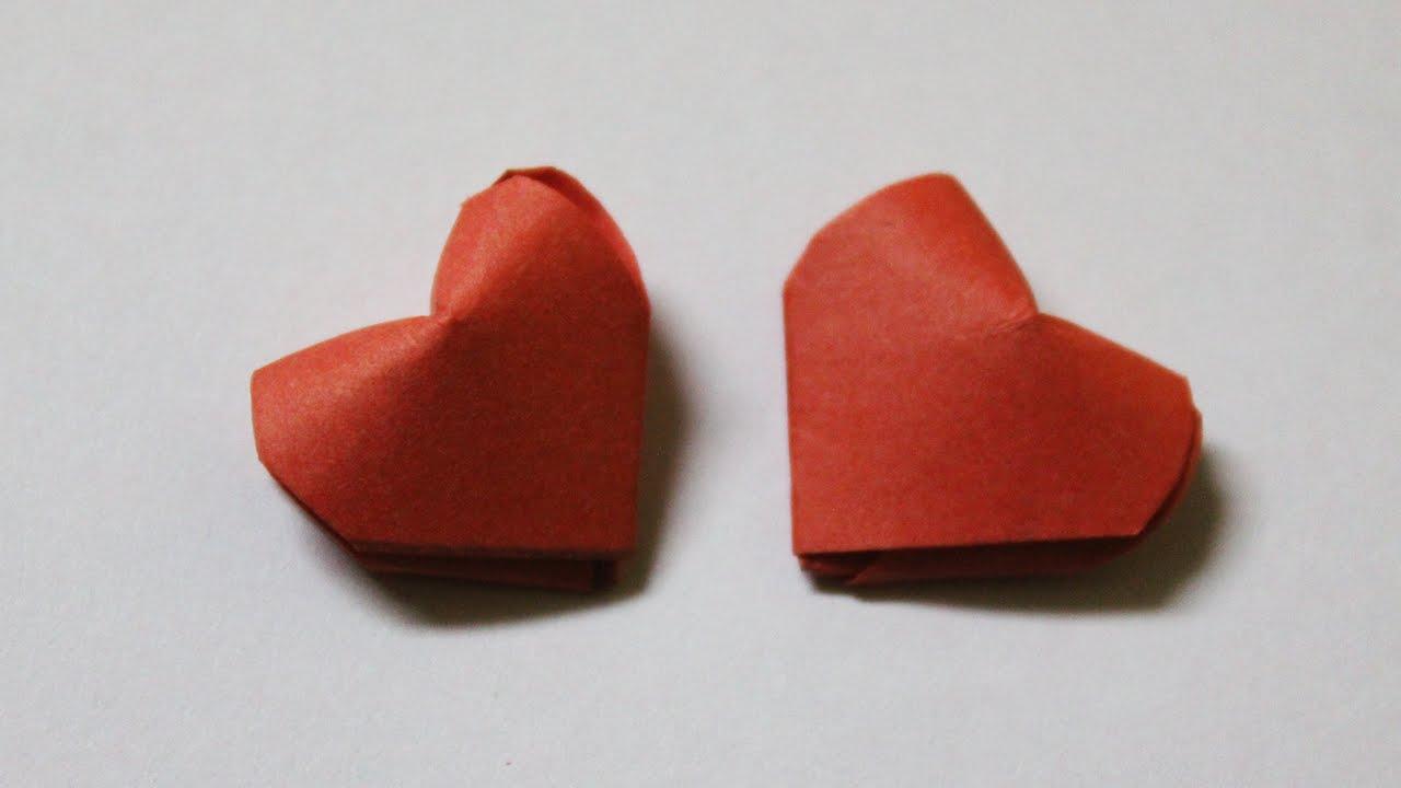 como hacer un corazon de papel en 3d