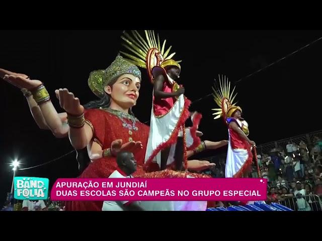 Band Folia: em Jundiaí, duas escolas são campeãs no grupo especial