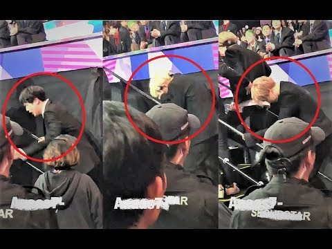 BTS extremely exhausted after intense performances!! @MAMA2017 cr:tagged