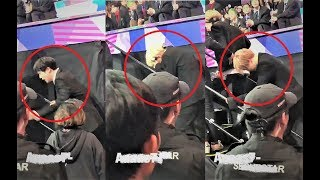 BTS extremely exhausted after intense performances!! @MAMA2017 [cr:tagged]