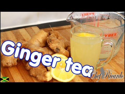 How To Make Ginger Tea & Lemon For Weight Loss!! | Recipes By Chef Ricardo