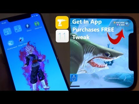 NEW How To Get In App Purchases FREE Tweak iOS 11 - 11 1 2 NO Computer  iPhone iPad iPod Touch