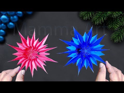 Paper Stars for Christmas || Easy DIY Christmas Decoration Ideas || Paper Snowflakes || Paper Star
