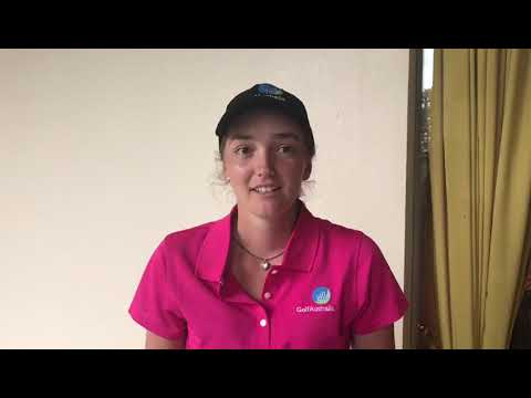 Kirsty Hodgkins after Friday at the 2018 Women's Amateur Asia Pacific