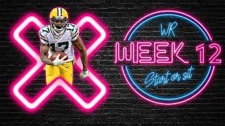 2019 Fantasy Football - Week 12 Wide Receiver Start or Sit
