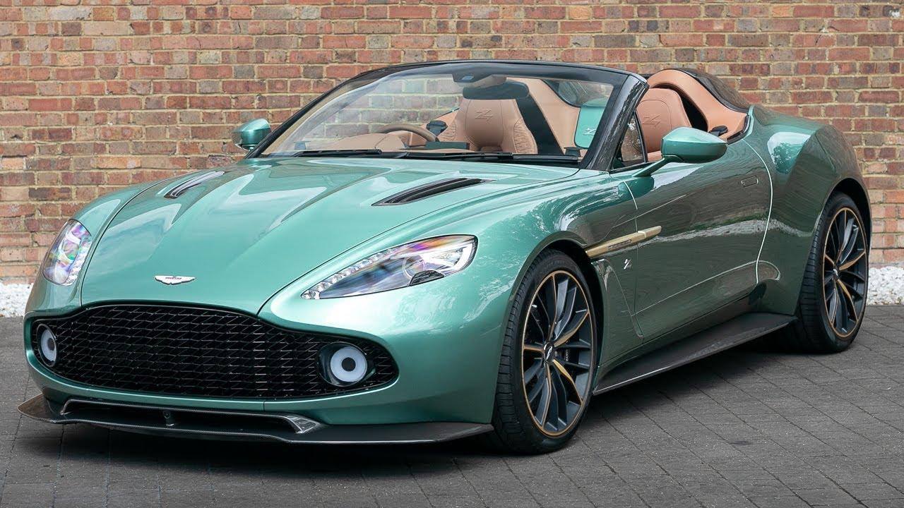 2018 Aston Martin Vanquish Zagato Speedster Green Q Special Paint Walkaround Interior Exhaust Youtube