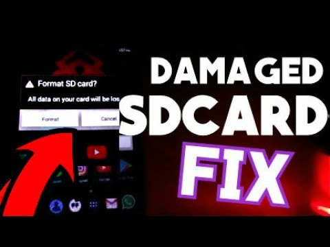 HOW TO FIX DAMAGED SDCARD ERROR ON ANDROID | NO DATA LOSS | USB WON'T OPEN REPAIR (2017)