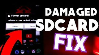 HOW TO FIX DAMAGED SDCARD ERROR ON ANDROID | NO DATA LOSS | USB WON'T OPEN REPAIR (2019)