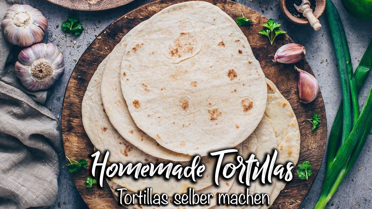 Tortillas schnell & einfach selber machen für Wraps, Burritos, Tacos *Veganes Fladenbrot Rezept*