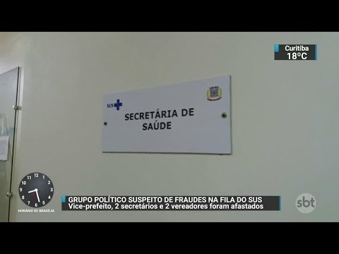 Políticos são suspeitos de fraudar fila do SUS no interior gaúcho | SBT Brasil (05/12/17)