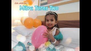 Mitra turns two/ Baby birthday celebration in Tamil/Birthday staycation/Birthday vlog