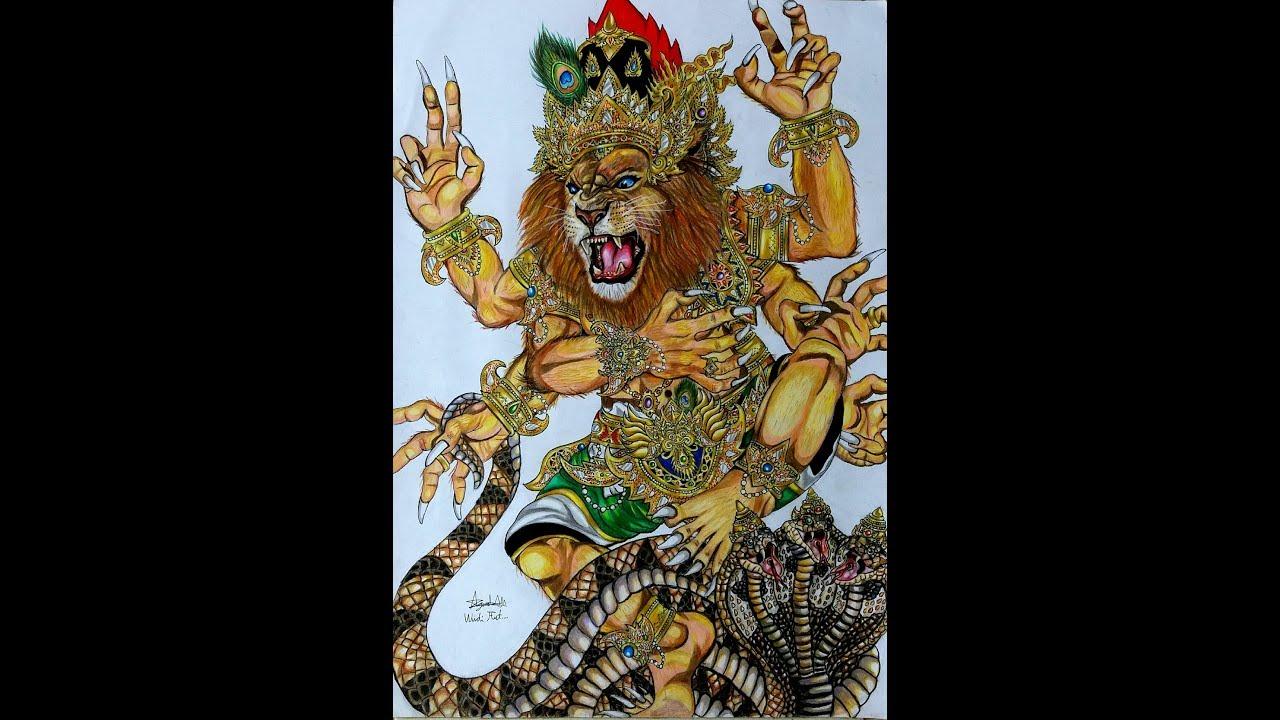 Sket Gambar Ogoh Ogoh SANG NARASIMHA AWATARA Full Body