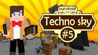 Выживание на сервере Techno Sky - Техно-магия - #5