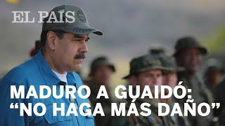 """MADURO, a GUAIDÓ: """"Piense bien lo que está haciendo"""""""