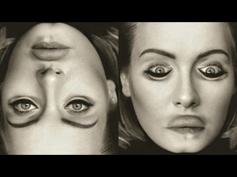 Adele's Weird Upside-Down Album Cover Goes Viral