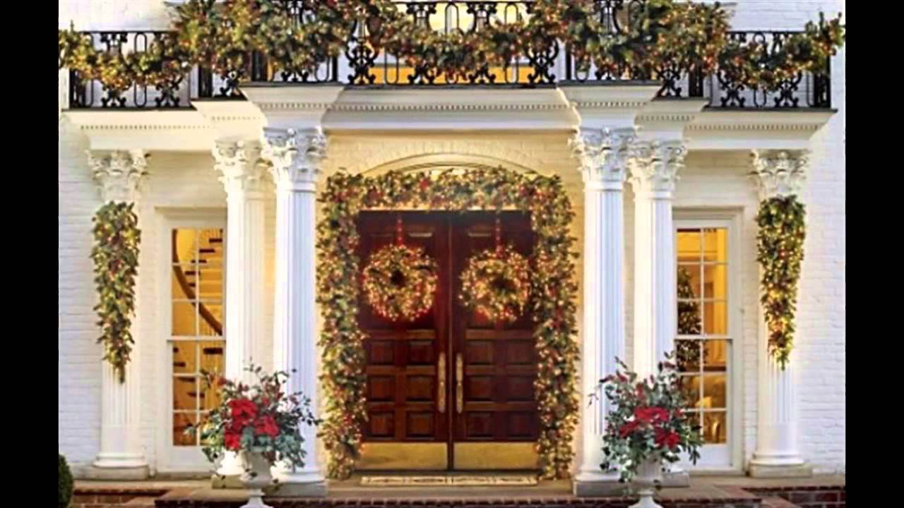fascinating front porch christmas decorating ideas youtube - Decorating Front Porch Urns For Christmas
