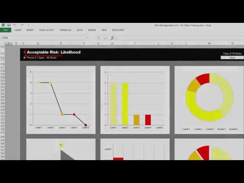 Risk Template in Excel | Charts Preparation Overview