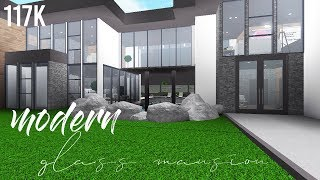 ROBLOX | Bloxburg : Modern Glass Mansion 117K