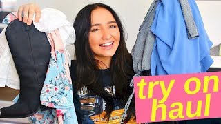 HUGE spring try on haul | urban outfitters fashion nova and more