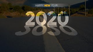 Happy New Year 2020 Wallpaper Poster Design in Photoshop