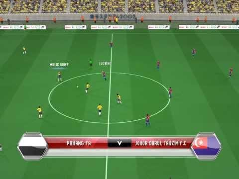 PES 2014 - MSL Pahang VS JDT full time patch HBZ 2.0 Travel Video