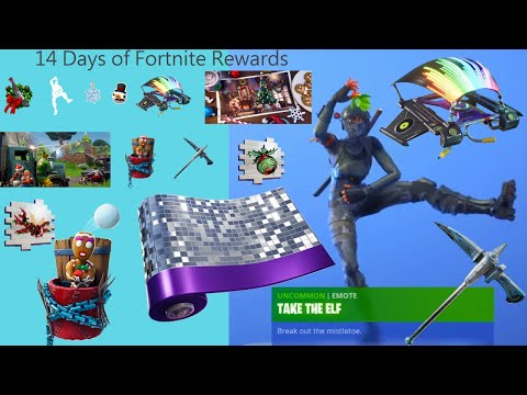 All 14 Days Of Christmas Rewards Fortnite - 14 Days Of Fortnite All Rewards