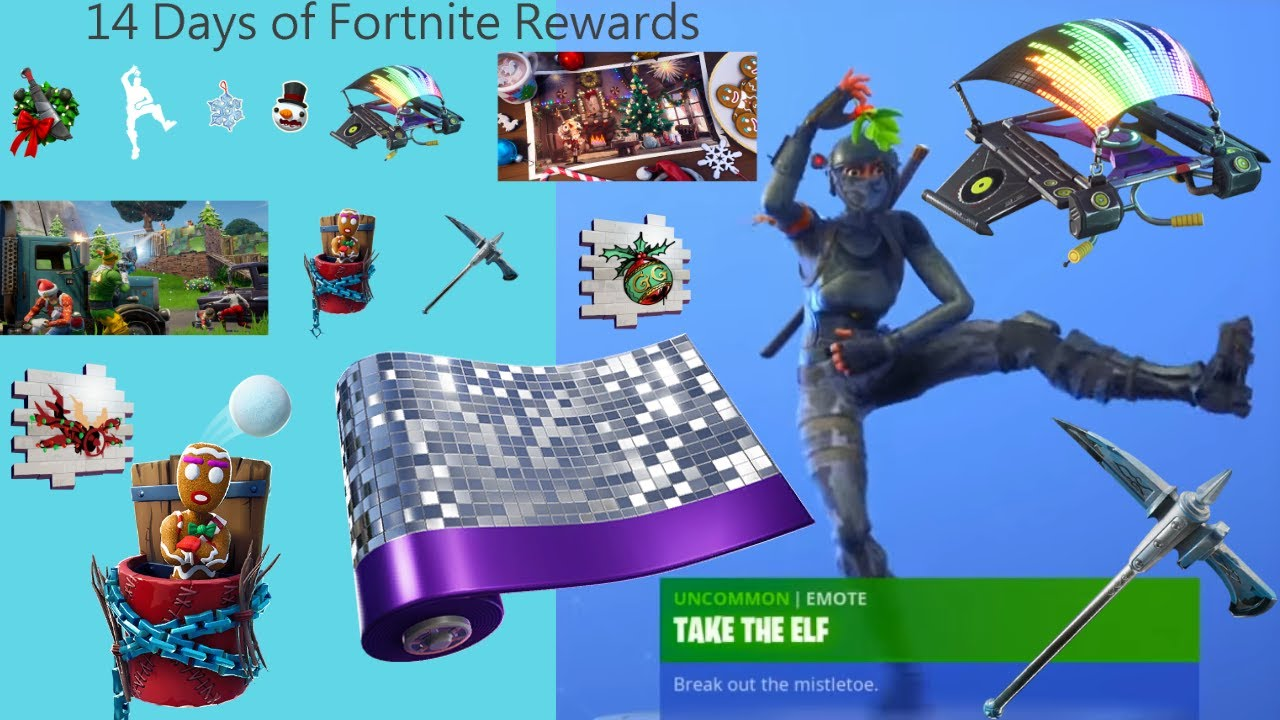 Fortnite 14 Days Of Christmas.All 14 Days Of Christmas Rewards Fortnite 14 Days Of Fortnite All Rewards