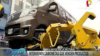 La Victoria: intervienen camionetas donde vendían productos