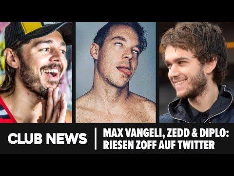 MAX VANGELI, ZEDD & DIPLO: Riesen Zoff bei Twitter  ► MOBY verkauft seine Plattensammlung Mp3