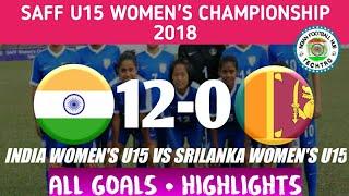 India U15 12-0 Srilanka U15 | Women's SAFF CUP 2018 | ALL GOALS • HIGHLIGHTS