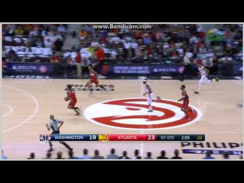 Bradley Beal strong running dunk - Atlanta Hawks vs. Washington Wizards - NBA - 27/10/2016