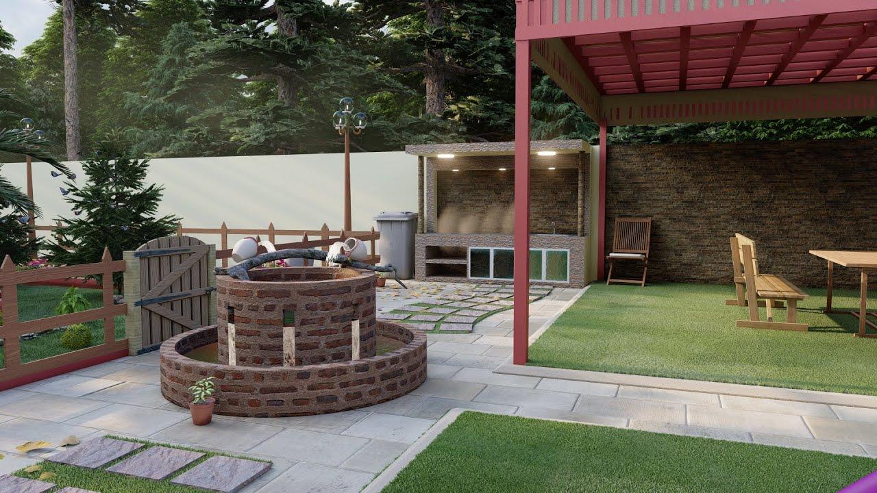 تصميم حدائق وشلالات تصميم حدائق ومتنزهات تصميم حدائق ومزارع تصميم حدائق ومنتزهات تصميم حدائق بالرياض Outdoor Living Branch Decor Outdoor Decor