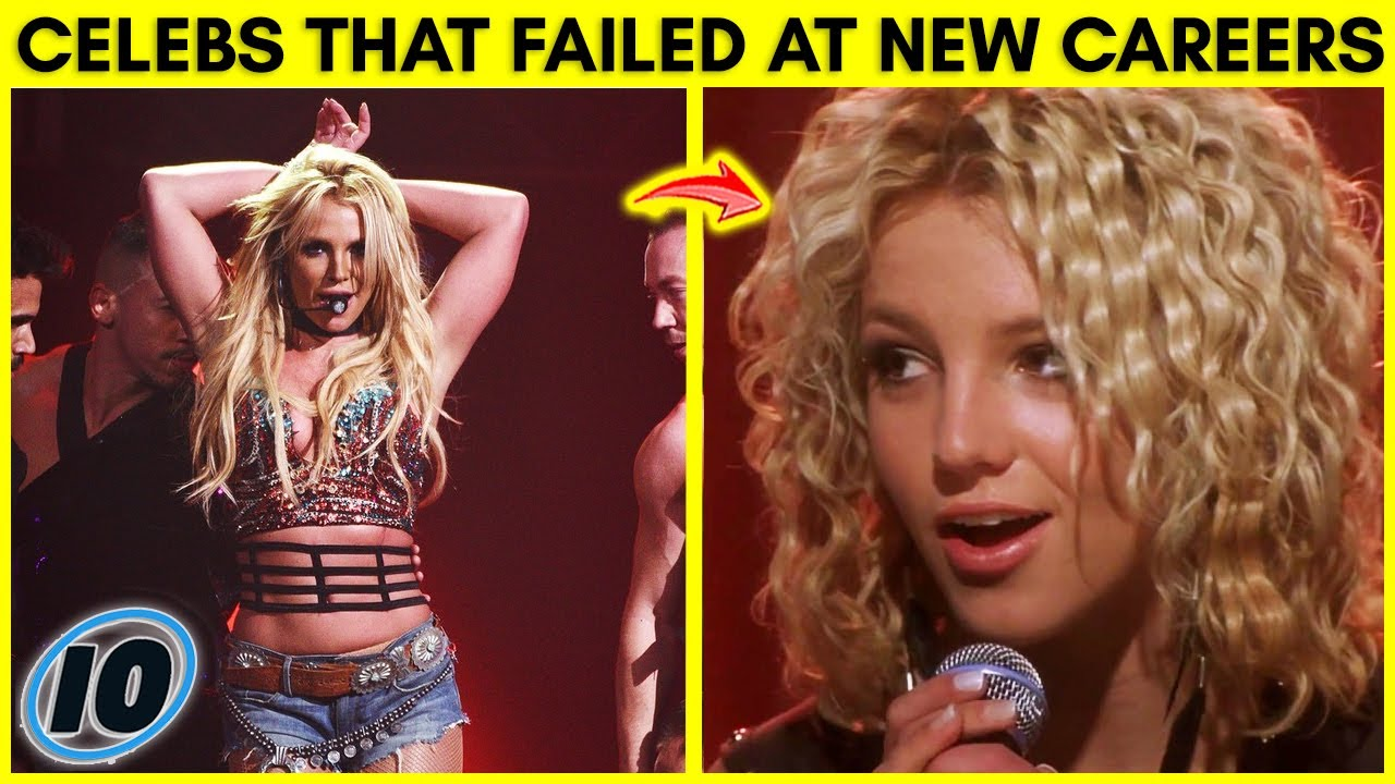 Top 10 Celebrities That Tried And Failed To Start New Careers