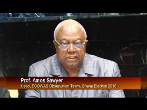 Head Of ECOWAS Observers  Mission In Ghana Addresses Media
