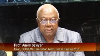 Head Of ECOWAS Observers  Mission In Ghana Addresses Media