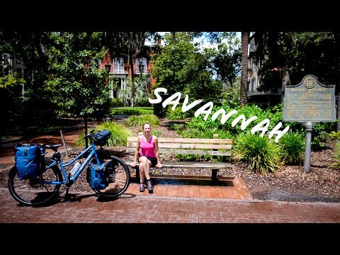 On Amtrak TRAIN with bicycle & tropical HEAT in Savannah