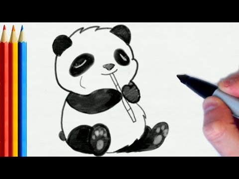 Download How To Draw Panda Playing Flute Easy Step By Step Tutorial