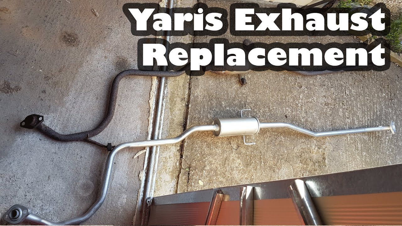 how to replace your middle centre box exhaust toyota yaris 1 0 vvti