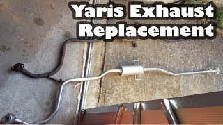 The exhaust on the Yaris was so LOUD - Middle box Replacement