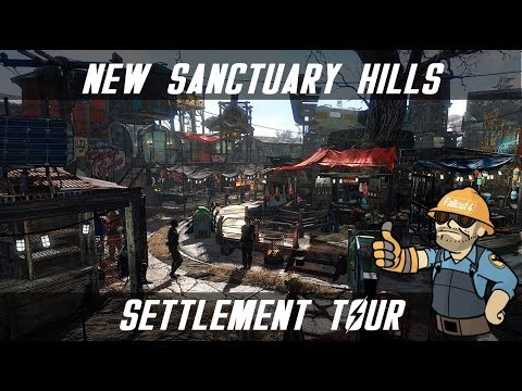 FALLOUT 4 SANCTUARY SETTLEMENT TOUR - HUGE AND REALISTIC - FALLOUT 4 SETTLEMENTS