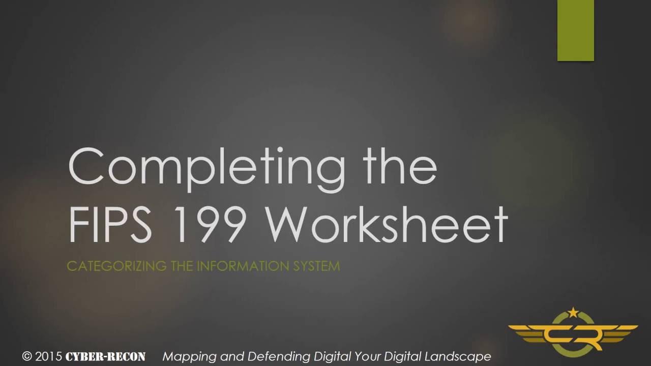 Task 1 3 Completing The Fips 199 Worksheet