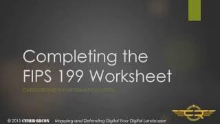 Task 1-3 Completing the FIPS 199 worksheet