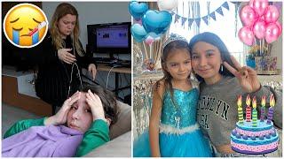 VLOG   Online Dersler Hasta Etti ! Ada'nın Doğum Gününü Kutladık